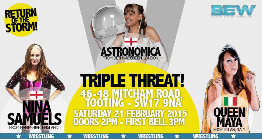 Queen Maya vs Astronomica vs Nina BEW 21.2.2015 banner