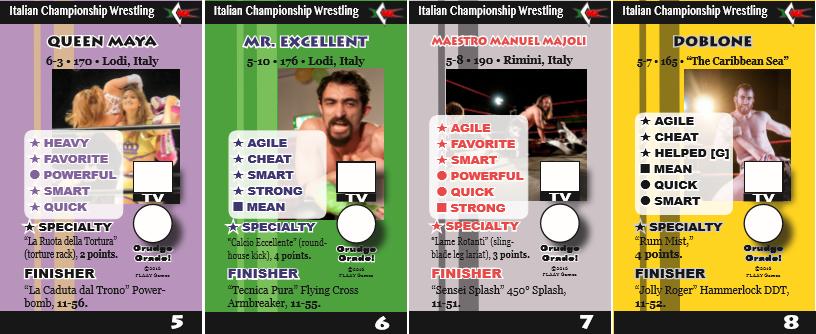 """Un'immagine illustrativa dell'espansione del gioco """"Face to the Mat"""" dedicata interamente alla Italian Championship Wrestling"""