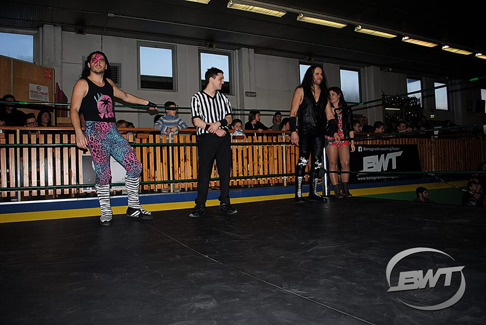 Il Bologna Wrestling Team ha deciso di schierare il team dei T-Rocks composto da Mick Vice e Blackford