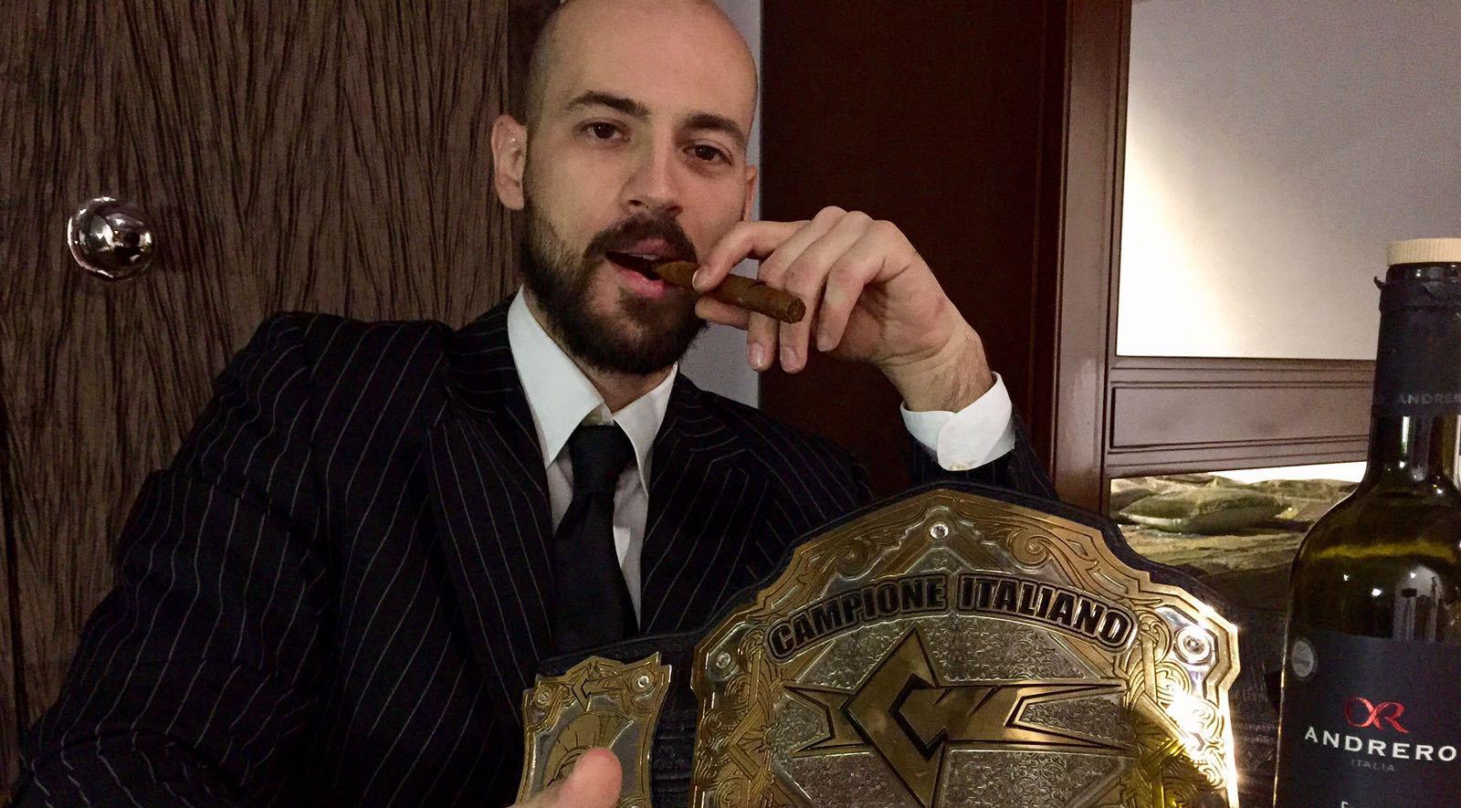 Il Campione Italiano di Wrestling, Alessandro Corleone, è stato il primo dei 3 a concorrere nella gara