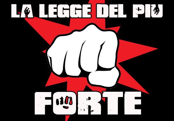 La Legge del Più Forte: sabato sera a Genova! La card completa!!!