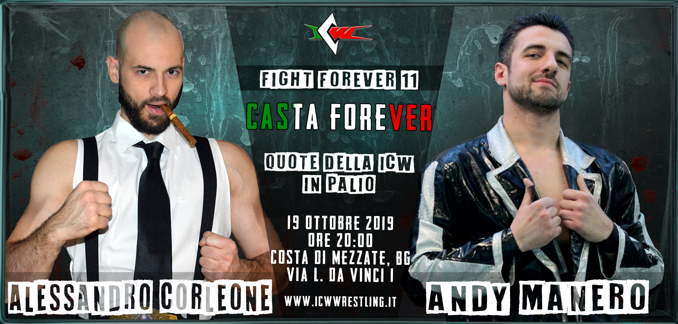 Sabato 19 Ottobre a Bergamo arriva ICW Fight Forever #11: Casta Forever!