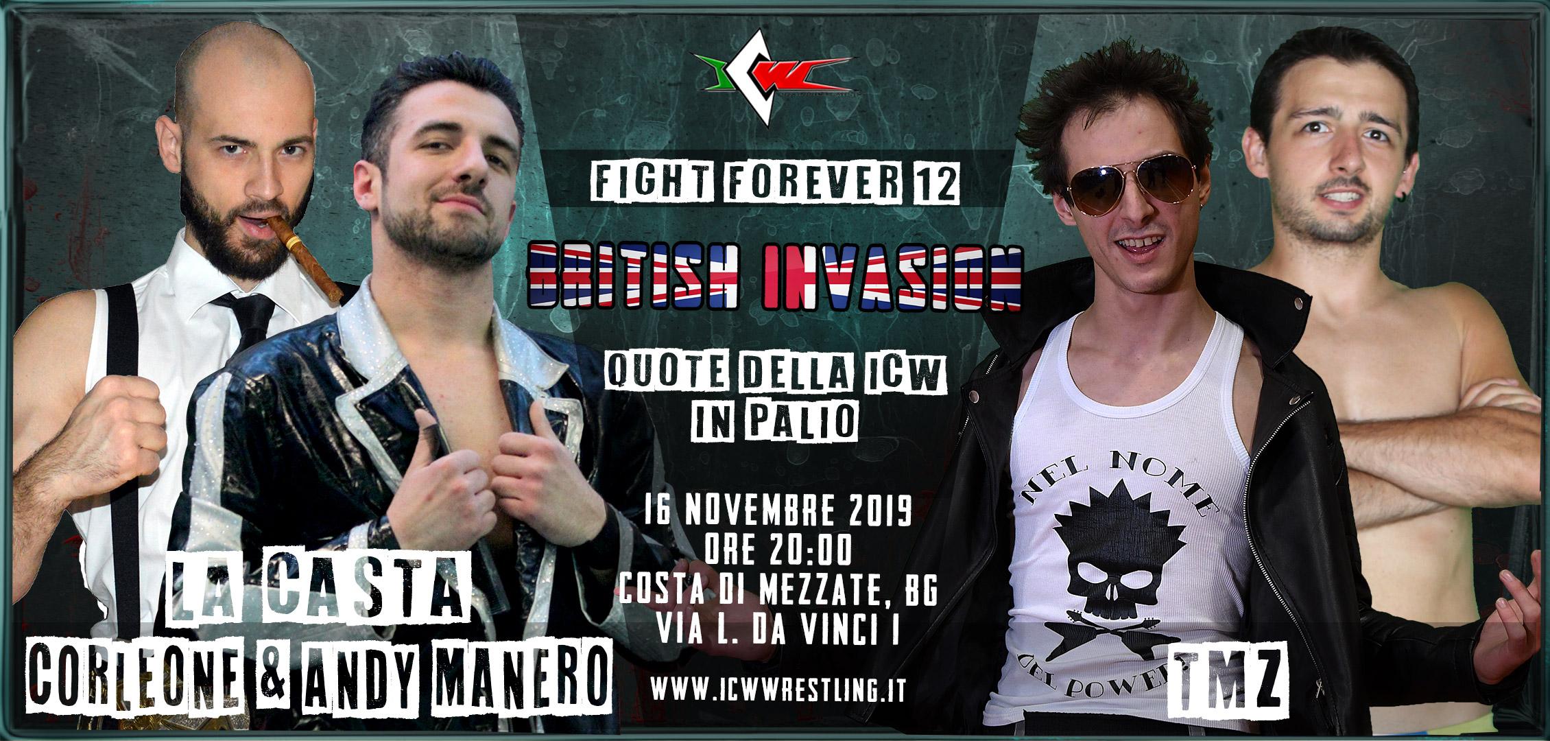 Gran galà internazionale questo sabato a Bergamo, con ICW Fight Forever #12: British Invasion!
