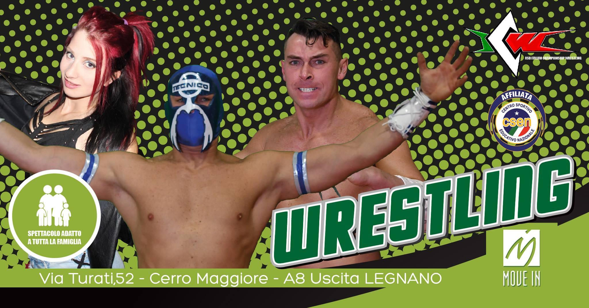 Doppio Evento con Il Grande Wrestling ICW al Move In di Cerro Maggiore!