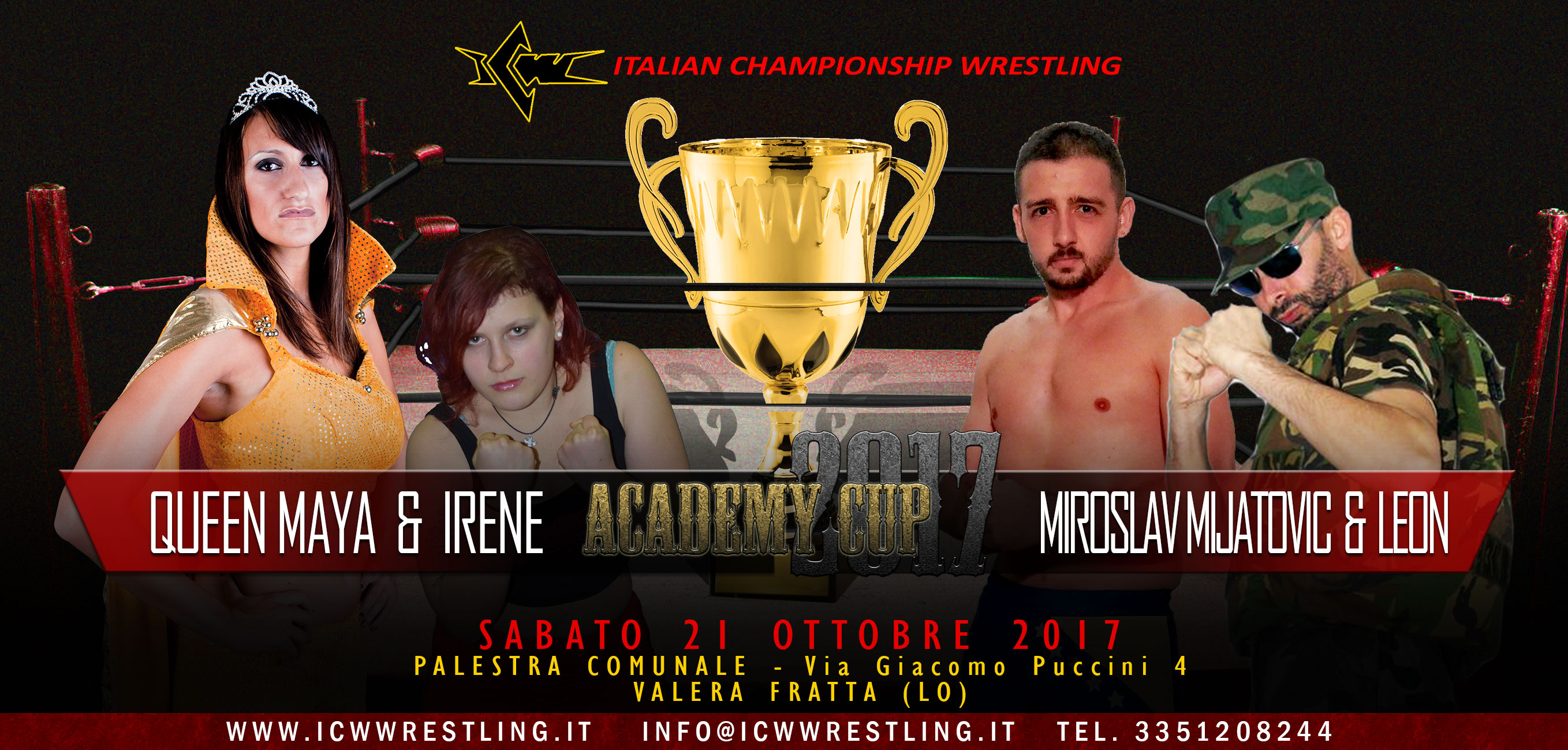 ICW Academy Cup 2017: primo match annunciato!