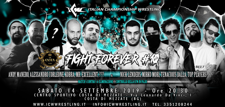 Sabato 14 settembre a Bergamo il decimo capitolo della serie ICW Fight Forever!
