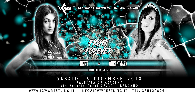 Sabato 15 dicembre a Bergamo l'ultimo Evento ICW Fight Forever dell'anno!