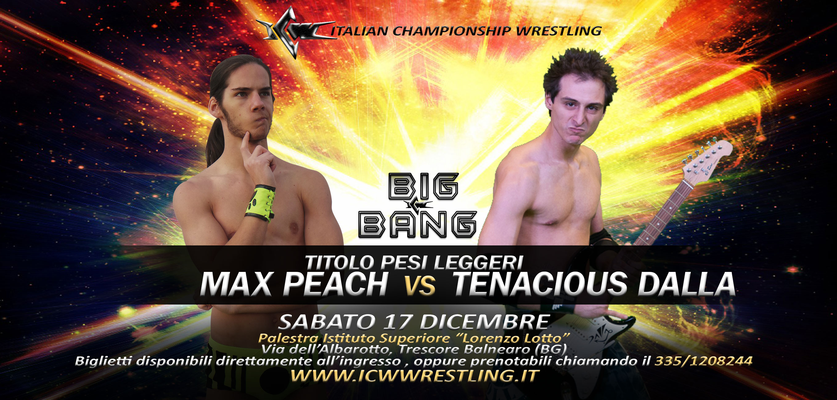 [VIDEO] Finalmente 1 vs 1: Tenacious Dalla sfida Max Peach a ICW Big Bang!