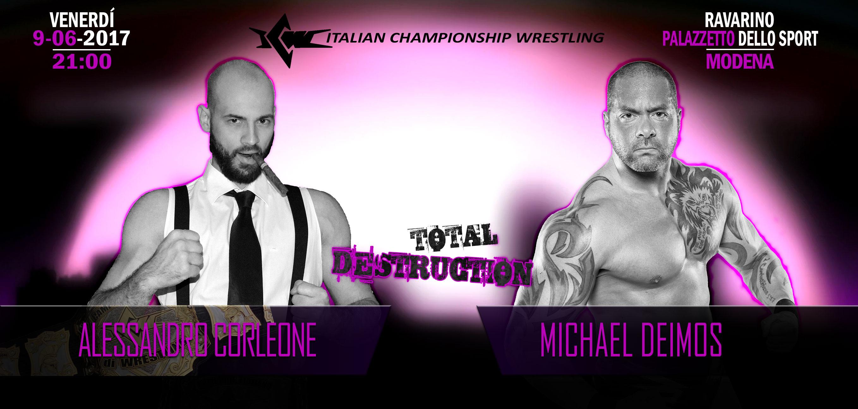 Corleone contro Deimos: Sfida Italia-USA per il Titolo Italiano di Wrestling stasera a Ravarino, Modena!