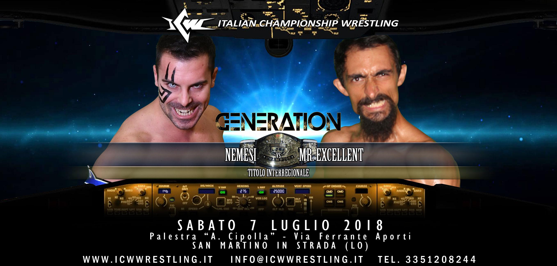 Rematch annunciato per il 7 luglio a ICW Generation: Nemesi vs Mr. Excellent 2!