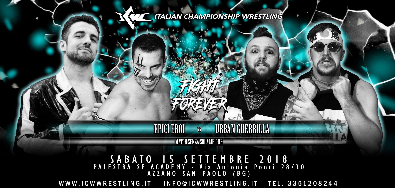 ICW Fight Forever: parte stasera a Bergamo la nuova serie di Eventi ICW per i Tifosi più sfegatati!