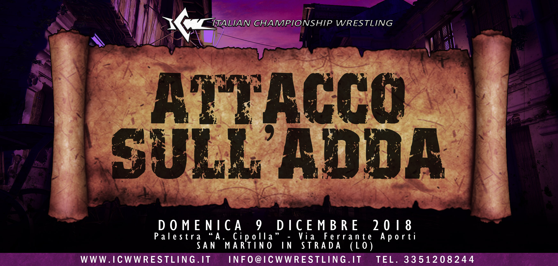 Il Grande Wrestling ICW torna a Lodi domenica 9 dicembre!