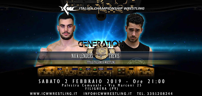 Questo sabato il primo Evento del 2019: la ICW torna a Pavia con Generation 5!