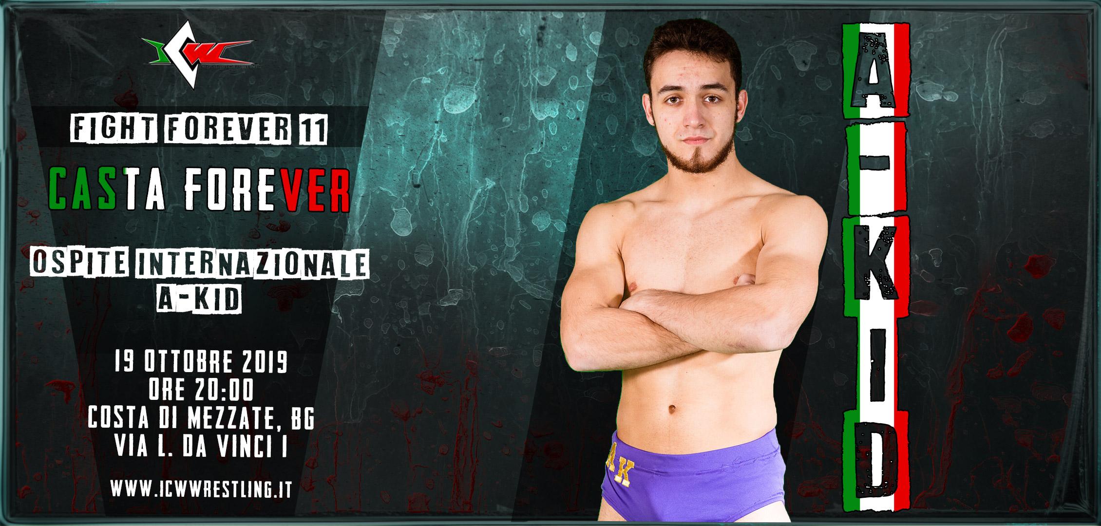 A-KID debutta alla ICW il 19 ottobre a Fight Forever #11!