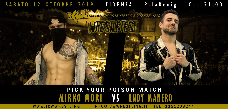 ICW WrestleFest: il 12 ottobre il Grande Wrestling arriva a Fidenza!