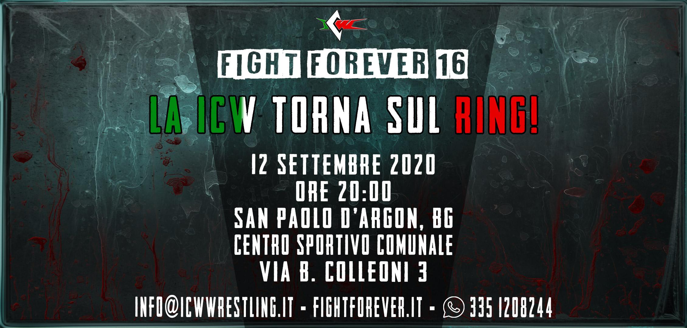 La ICW torna sul Ring sabato 12 settembre 2020!
