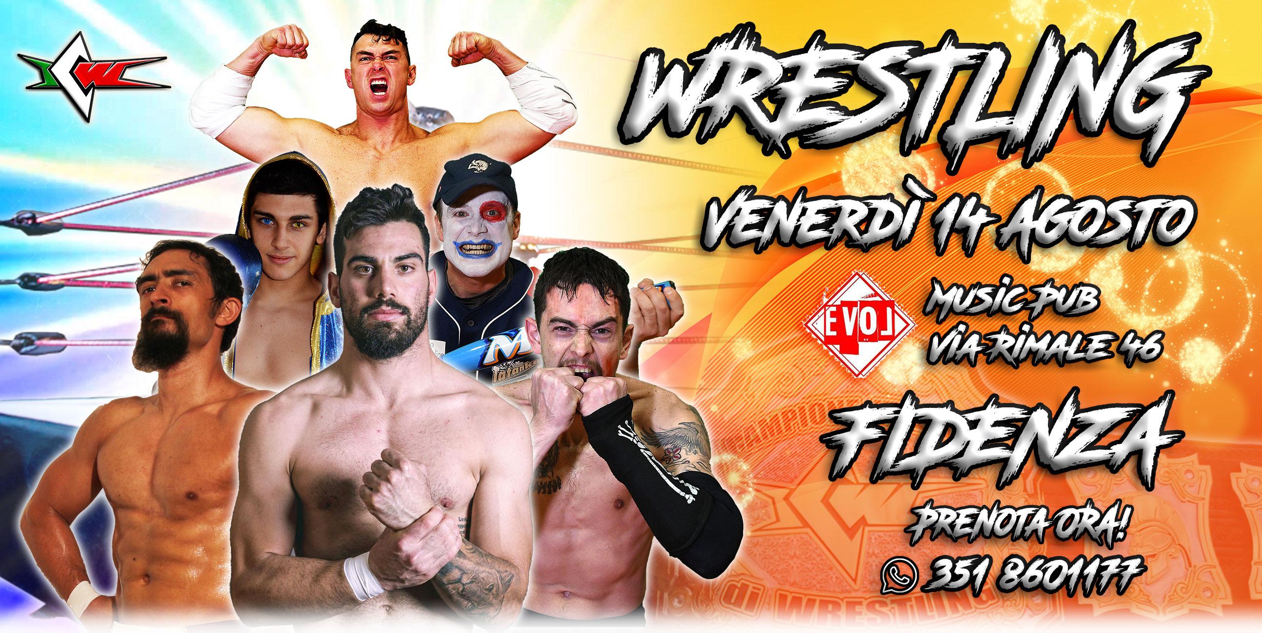 Siamo tornati! Il Grande Wrestling ICW il 14 agosto a Fidenza con La Legge del Più Forte 2020!
