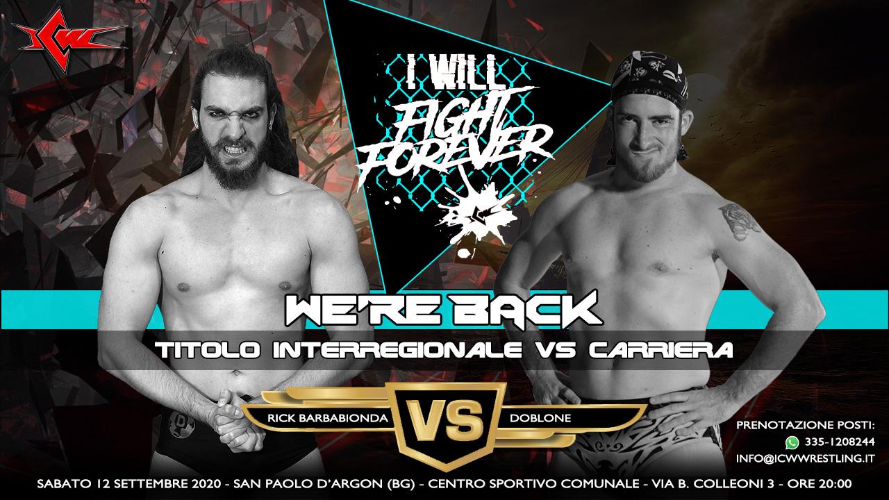I primi match annunciati per il ritorno di ICW Fight Forever!