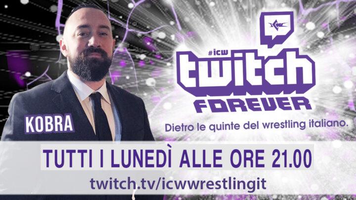 Kobra annunciato come primo conduttore di ICW Twitch Forever!