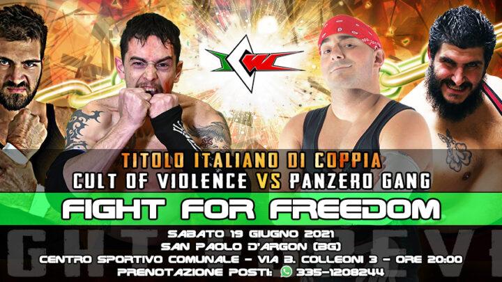 Cult of Violence vs Panzero Gang per i Titoli di Coppia a ICW Fight For Freedom!