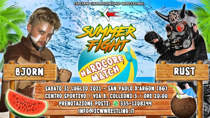 Rust contro Bjorn a ICW Summer Fight.. in un Hardcore Match!