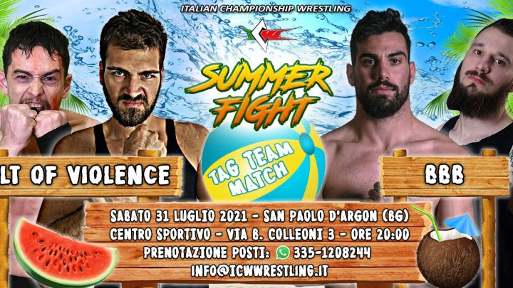 BBB contro Cult of Violence a ICW Summer Fight!
