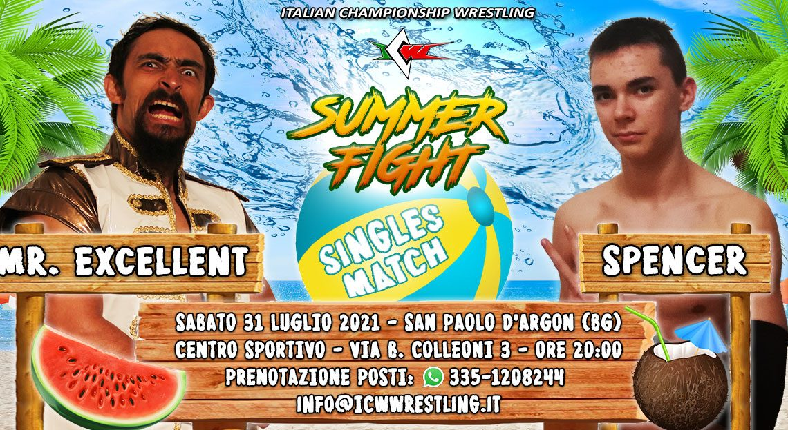 Spencer contro Mr. Excellent a ICW Summer Fight!