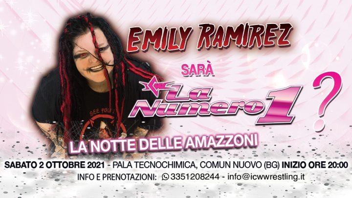 Emily Ramirez sarà alla Notte delle Amazzoni!