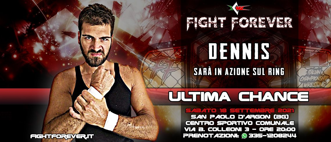Dennis in azione stasera a ICW Fight Forever!