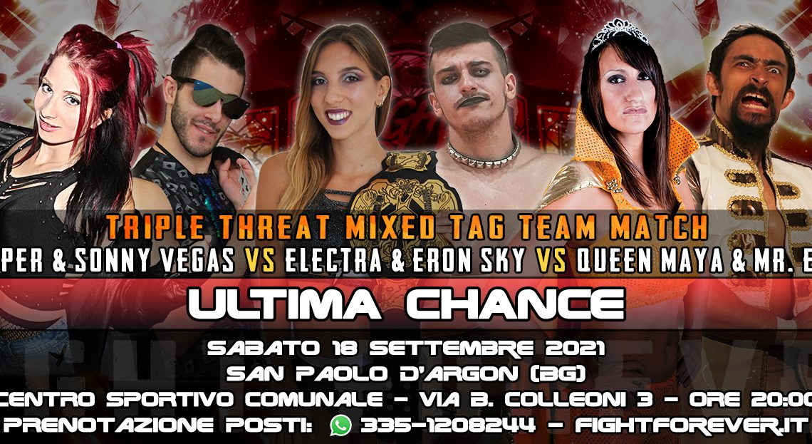Scontro a coppie miste! Intergender Triple Threat Tag Team Match a ICW Fight Forever