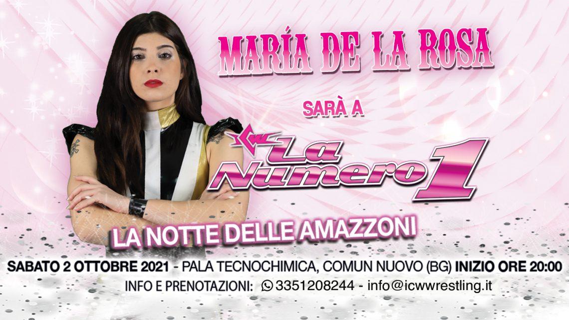 Talento Internazionale annunciato per ICW La Numero Uno: arriva María De La Rosa!