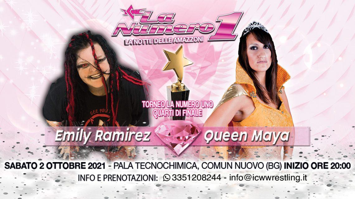 Annunciato il primo match della Notte delle Amazzoni! Queen Maya affronta Emily Ramirez!