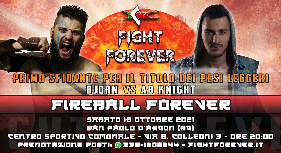 Opportunità al Titolo Italiano dei Pesi Leggeri in Palio a Fight Forever!